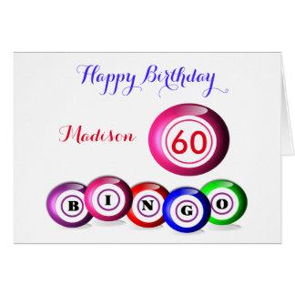 Lucky Number Bingo Themed Birthday Card