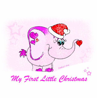 Lucky Pinkie My First Christmas Photo Sculpture