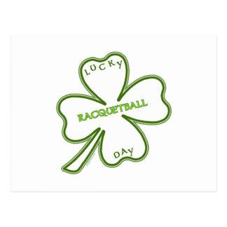 Lucky Racquetball Postcard
