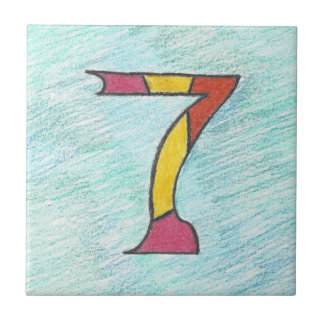 Lucky Seven on Cool Blues Tile