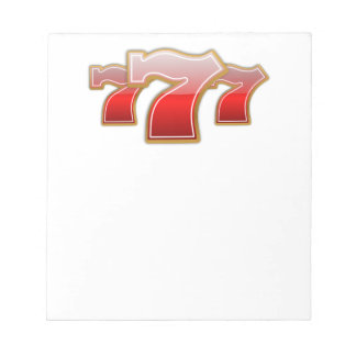 Lucky Sevens - Slot Machine Jackpot Notepad