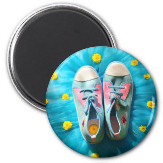 LUCKY SHOES 6 CM ROUND MAGNET