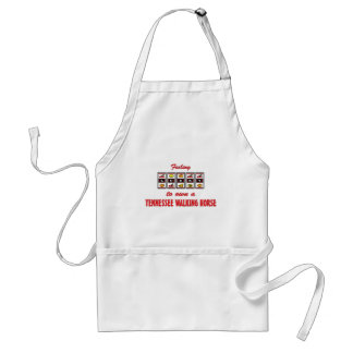 Lucky to Own a Tennessee Walking Horse Fun Design Adult Apron