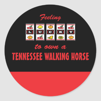 Lucky to Own a Tennessee Walking Horse Fun Design Stickers