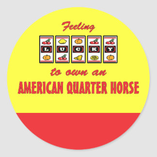 Lucky to Own an American Quarter Horse Fun Design Classic Round Sticker