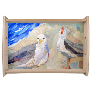 Lucy & Ricky collage art tray