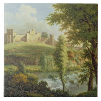 Ludlow Castle with Dinham Weir, from the South-Wes Tile