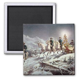 Ludwig II  of Bavaria Sleighing at Night Magnet
