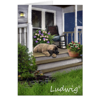 Ludwig the Leonberger Puppy Greeting Card