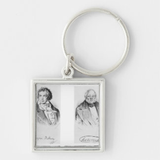 Ludwig van Beethoven & Francois-Antoine Habeneck Key Ring