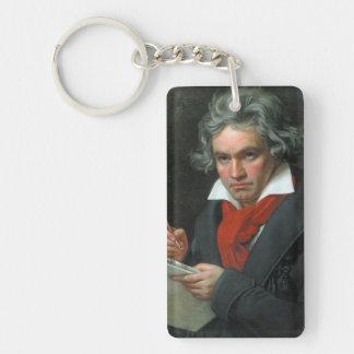 Ludwig van Beethoven Portrait Key Ring
