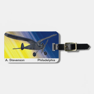 Luggage tag - model aeroplane