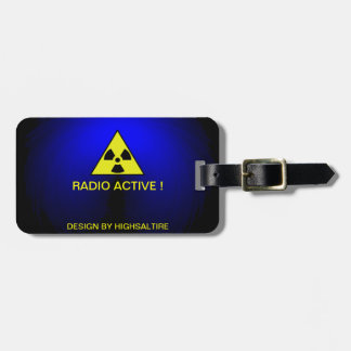 Luggage Tag w/ leather strap radio active