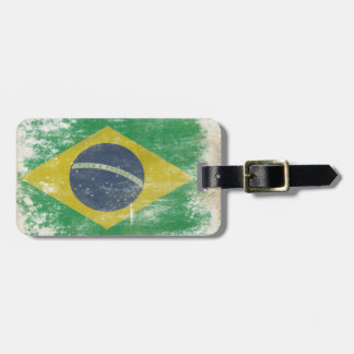 Luggage Tag with Cool Flag from Brazil