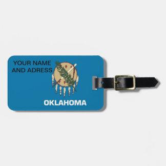 Luggage Tag with Flag of Oklahoma, USA