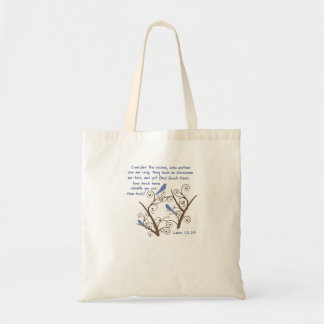 Luke 12:24 Consider the Ravens Tote Bag