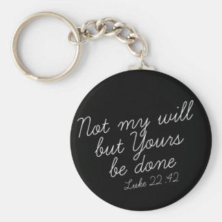 Luke 22:42 Black Keychain