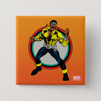 Luke Cage Retro Character Art 15 Cm Square Badge