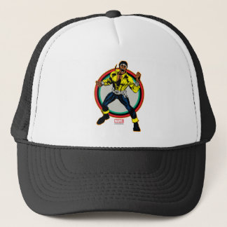 Luke Cage Retro Character Art Trucker Hat