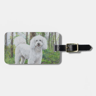 Luke the Golden Doodle Dog Art Luggage Tag