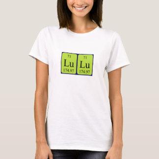 Lulu periodic table name shirt