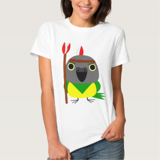 Lulu, the Senegal Parrot, Native American Indian T Shirt