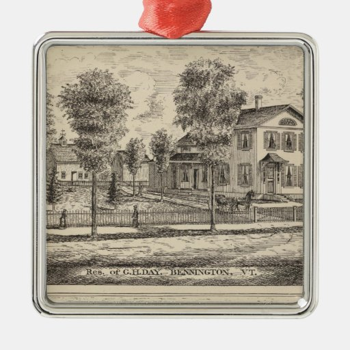 Lumber and Grist Mills in Arlington Vermont Christmas Tree Ornaments