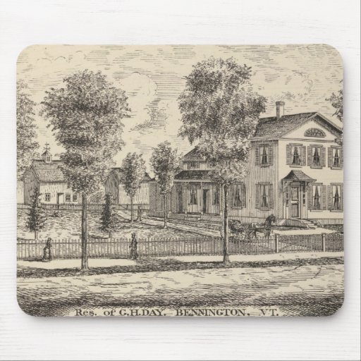 Lumber and Grist Mills in Arlington Vermont Mousepad