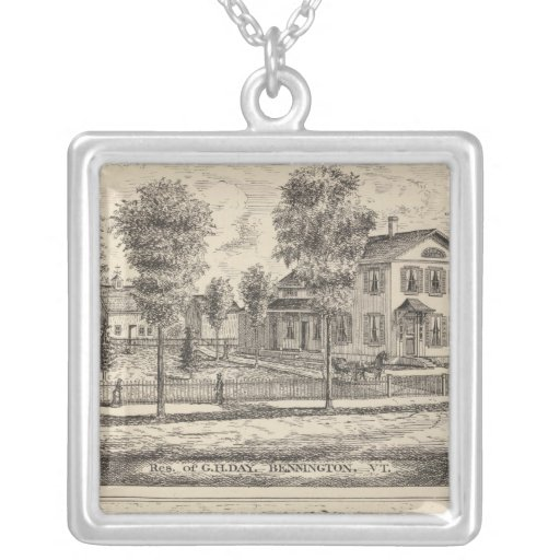 Lumber and Grist Mills in Arlington Vermont Personalized Necklace