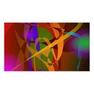 Luminous Brown Digital Abstract Art Business Cards