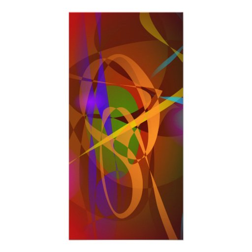 Luminous Brown Digital Abstract Art Personalized Photo Card