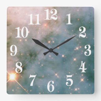 Luminous Carina Nebula Square Wall Clock