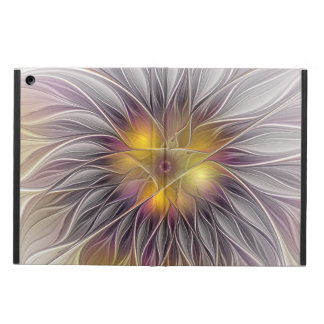 Luminous Colorful Flower, Abstract Modern Fractal iPad Air Case