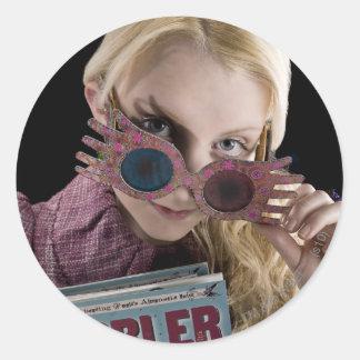 Luna Lovegood Peeks Over Glasses Classic Round Sticker