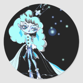 Luna Queen Classic Round Sticker