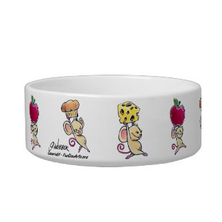 Lunch Time Mice Pet Dish Pet Bowls