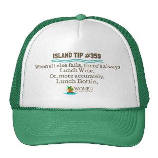Lunch Wine Cap (green) Trucker Hat