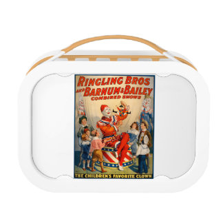 Lunchbox with a Vintage Circus Poster