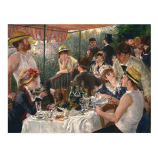Luncheon of the Boating Party by Renoir Postcard