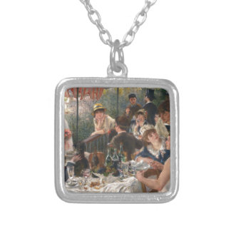 Luncheon of the Boating Party Vintage - Renoir Silver Plated Necklace
