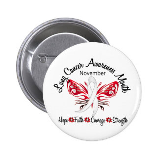 Lung Cancer Awareness Month Butterfly 3 2 Pinback Buttons