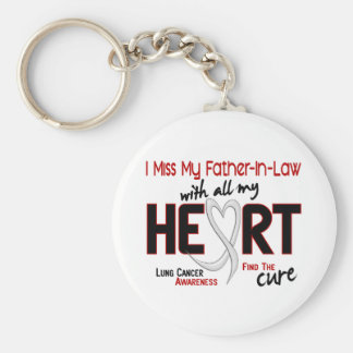 Lung Cancer I Miss My Father-In-Law Basic Round Button Key Ring