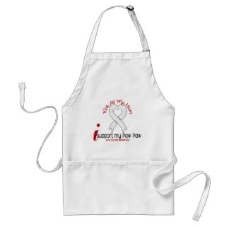 Lung Cancer I Support My Paw Paw Standard Apron
