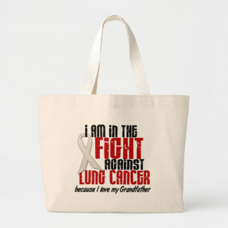 Lung Cancer IN THE FIGHT 1 Grandfather Jumbo Tote Bag