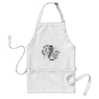 Lung Cancer Peace Love Cure Standard Apron