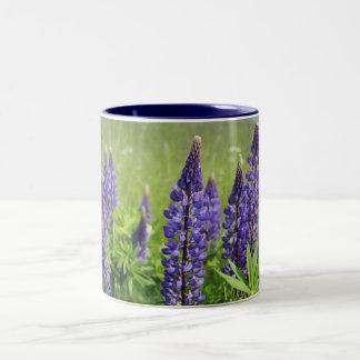Lupin blossom Two-Tone coffee mug