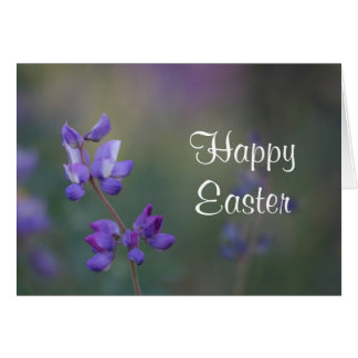 Lupine Happy Easter Card