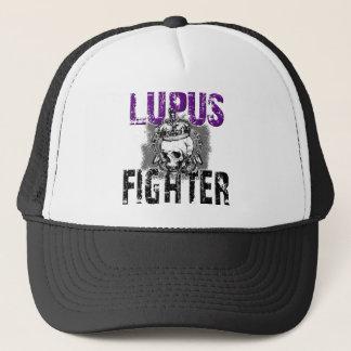 Lupus Fighter with Skull... Black Apparel Trucker Hat