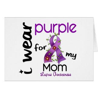 Lupus I WEAR PURPLE FOR MY MOM 43 Card
