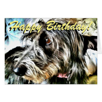 Lurcher birthday card